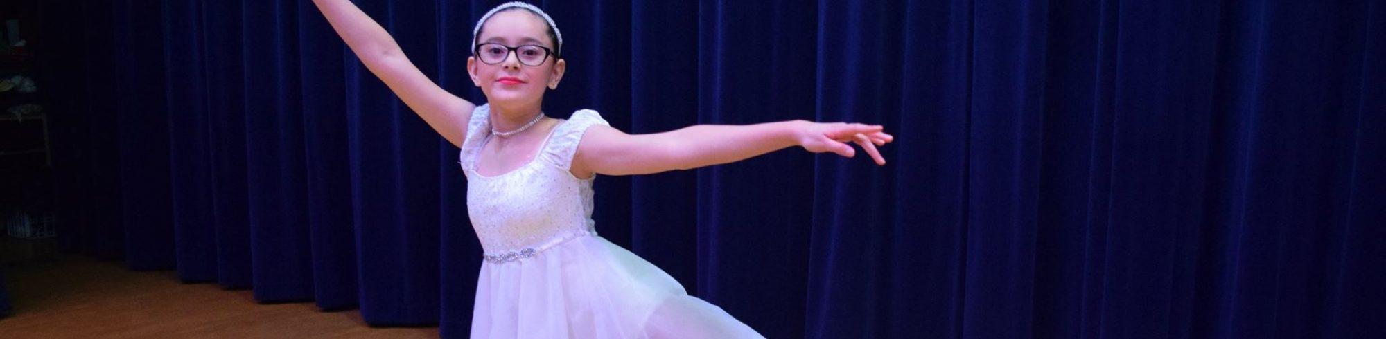 girl performing ballet