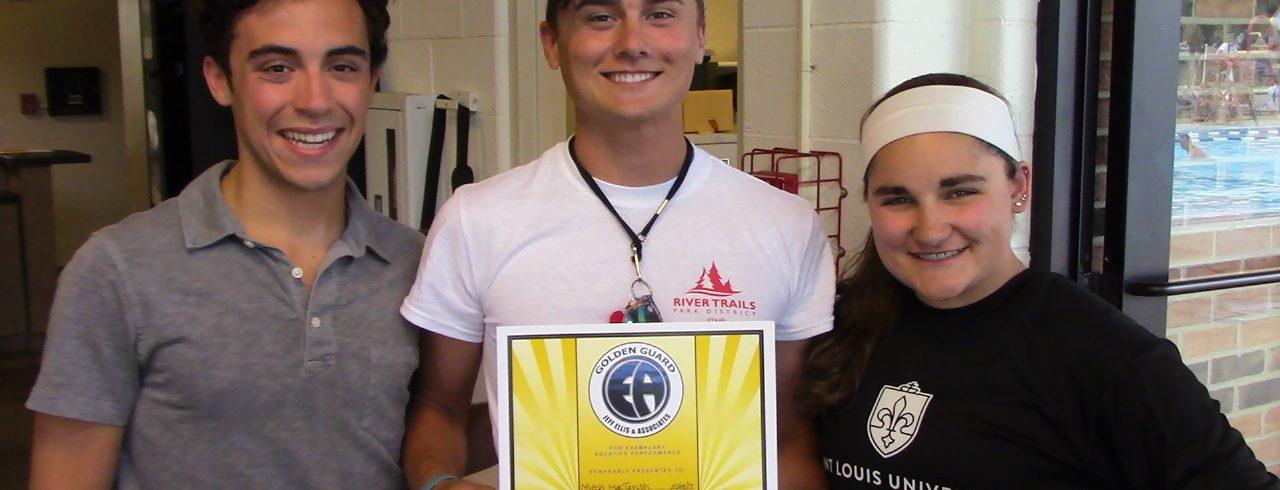 lifeguard receiving award