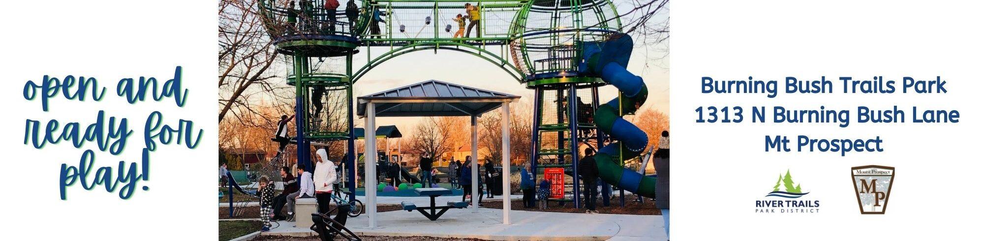 kids playing on burning bush park playground