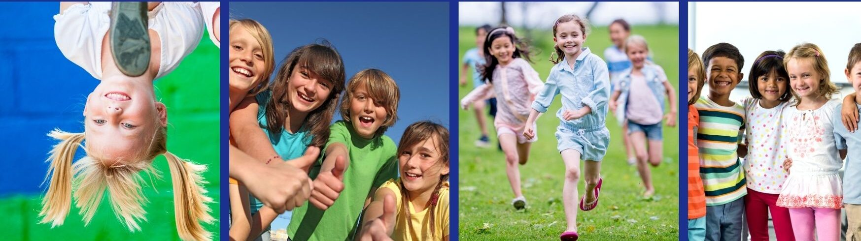 various pictures of kids having fun